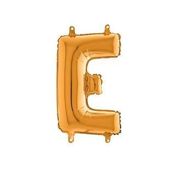 E Harfi Gold Renk Folyo Balon 60cm