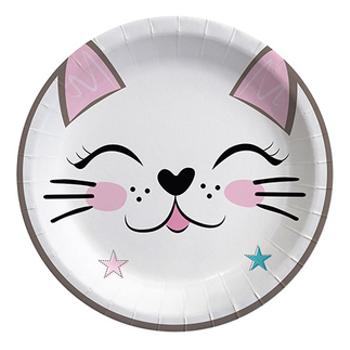 Miss Cat - Kedi Baskýlý Karton Tabak 8'li 22 cm
