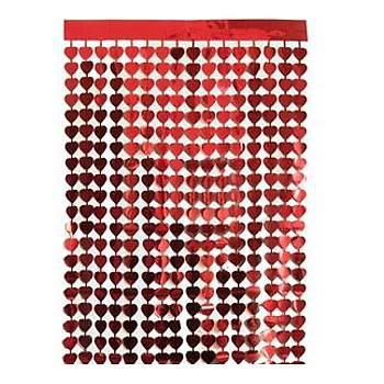 Kýrmýzý Kalpli Fon Süs 100-200 cm