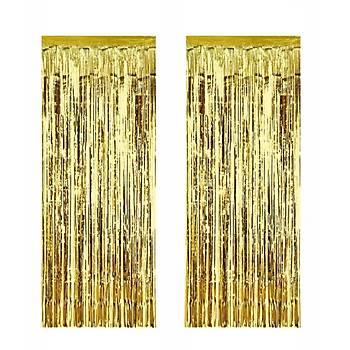 Gold Püsküllü Fon Süs 100-240 cm