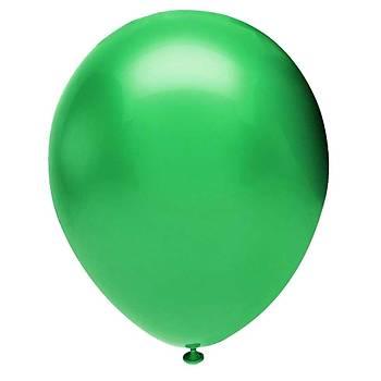 Yeþil Metalik Balon - 10 Adet