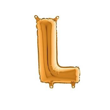 L Harfi Gold Renk Folyo Balon 60cm