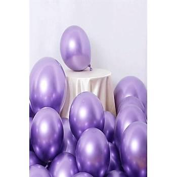 Mor Krom Balon 40 cm - 10 Adet