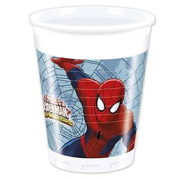 Lisanslý Spiderman Plastik Bardak 8'li