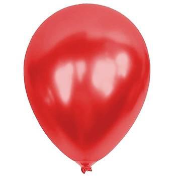 Kýrmýzý Metalik Balon - 10 Adet