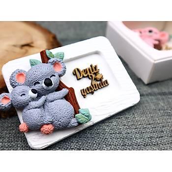 Koala Kokulu Taþ Hediyelik Magnet - Koala Bebek Þekeri, Bebek Hediyelik