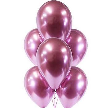 Pembe Krom Balon 40 cm - 50 Adet
