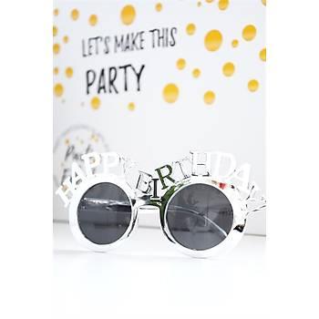 Happy Birthday Parti Gözlüðü