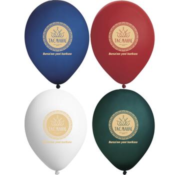 Logo Baskýlý Balon 12 inc 1000 Adet - Tek Yön Tek Renk 1+0