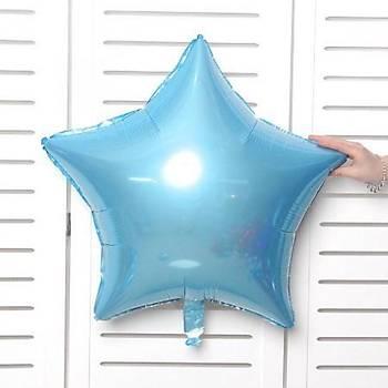 Mavi Yýldýz Folyo Balon 40 cm