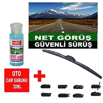 Silecek 8 Aparatlý Hybrid 700Mm Wutse + Oto Cam Sabunu