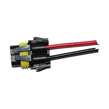 Xeno Balast Ýçin Plastik Kablolu Soket 2Li 15Cm 16Avg 881S 2 Adet