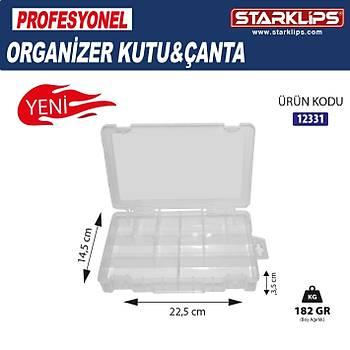Plastik Bölmeli Çanta Organizer 12 Bölme 2 Adet