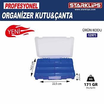 Çanta Plastik Organizer 6 Bölmeli 2 Adet