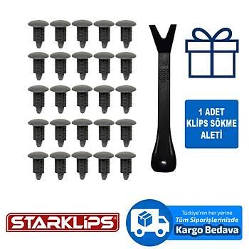 Universal Klips Koyu Gri 10X22X18 2 S-16482 25 Adet