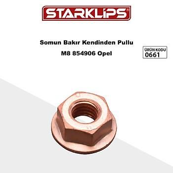 Bakýr Somun Kendinden Pullu M8 854906 Opel 10 Adet