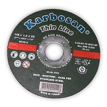 Taþlama Kaba Inox 22X115X6Mm Karbosan 2 Adet