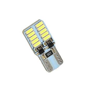 Dipsiz Beyaz LED Ampul 12V 20 Led T10 Canbus 2 Adet