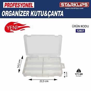 Plastik Bölmeli Çanta Organizer 6  Bölme 2 Adet