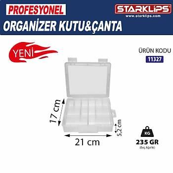 Plastik  Bölöeli Çanta Organizer 12 li (Þeffaf ) 2 Adet