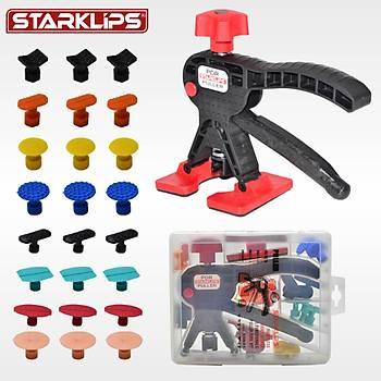 Boyasız Göçük Düzeltme Set Çanta Pensesi Renkli + 24 Adet PDR Göçük Çektirme Plastiği Hediye