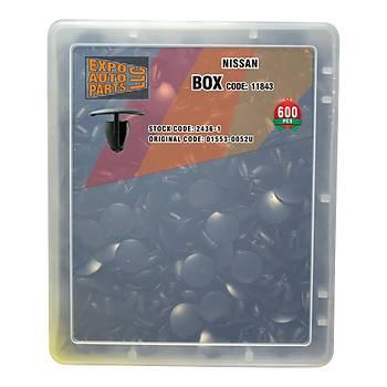 Klips Set Kutusu Siyah 01553-0052U Nissan 600 Adet