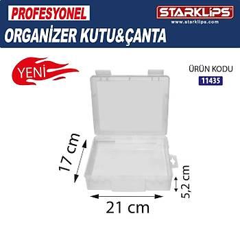 Plastik Tek Bölmeli Çanta Organizer (Þeffaf ) 21x17x5,2cm 2 Adet