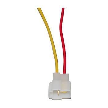 Plastik Kablolu Erkek Soket 2Li 15 Cm 5Mm C206M 4 Adet