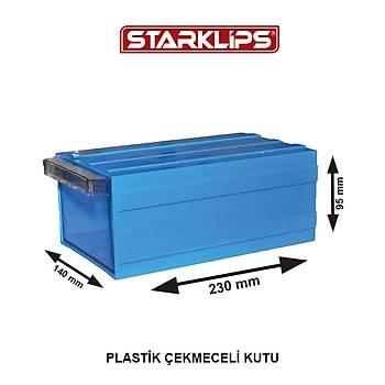 Plastik Çekmece 140 140X95X230 Sk Mavi 25 Adet