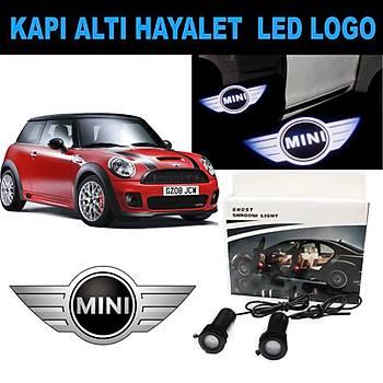 Kapý Altý 3D Hayalet LED Logo Minicooper