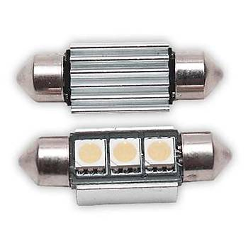 Sofit Ampul 3 LED Beyaz 12V 35Mm Can Bus  4 Adet