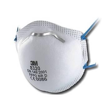 Toz Maskesi FFP2 VentÝlsiz Konik  3M™ 8320(10 Adet Fiyatýdýr)