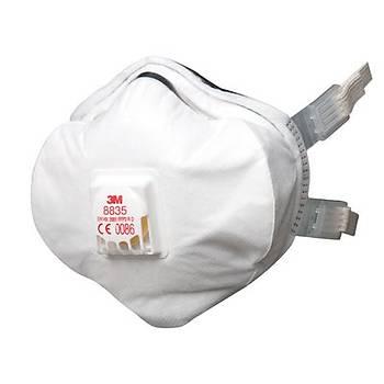 Toz Maskesi FFP3 Ventilli Konik  3M™ 8835(5 Adet Fiyatýdýr)
