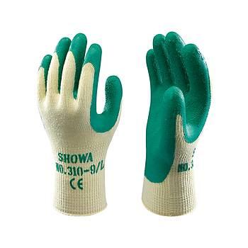 Showa - 310 Green Koruyucu Eldiven Polyester / Pamuk Astar Avuç Ýçi Lateks Kaplý