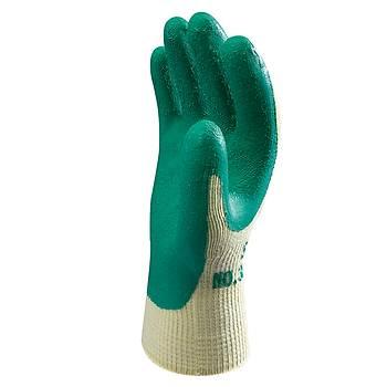 Showa - 310 Green Koruyucu Eldiven Polyester / Pamuk Astar Avuç İçi Lateks Kaplı