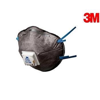 3M 9922 FFP2 Ventilli Düþük Kons. Organik Gaz ve Toz ve Sis Maskesi