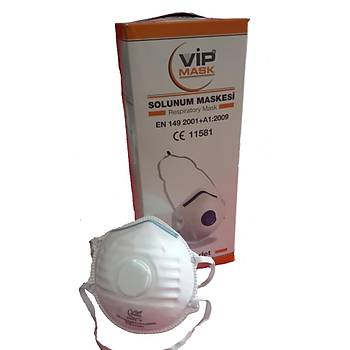 Toz Maskesi FFP2 Ventilli Kubbe VIP Mask
