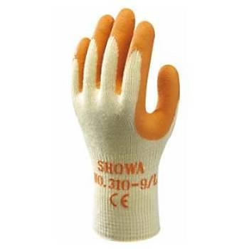 Showa - 310 Orange Koruyucu Eldiven Polyester / Pamuk Astar Avuç Ýçi Lateks Kaplý