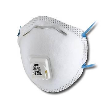 Toz Maskesi FFP2 Ventilli Konik  3M™ 8322(10 Adet Fiyatýdýr)