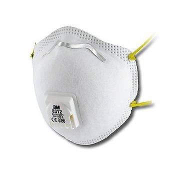 Toz Maskesi FFP2 Ventilli Konik  3M™ 8312 (10 Adet Fiyatýdýr)