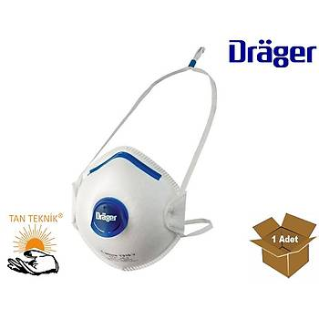 Drager X-Plore 1310 FFP1 Ventilli Kalýplý Toz Maskesi