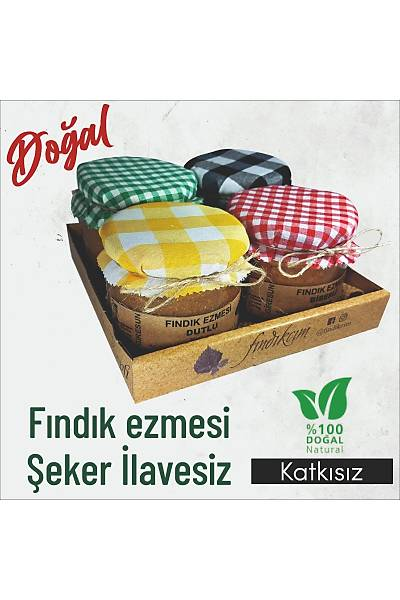 Fýndýk Ezmesi Kahvaltý Seti, Þeker ilavesiz KATKISIZ 270 Gr. 4'lü Paket