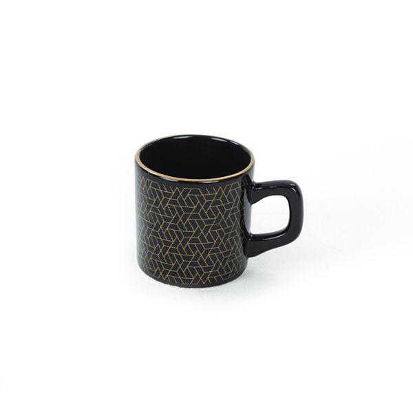 Dora Siyah Kahve Takýmý 8 Parça 4 Kiþilik