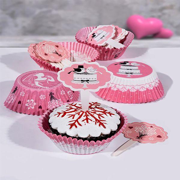 Balerin Pembe Kürdanlý Muffin (Cupcake) Kapsül Seti 25'li