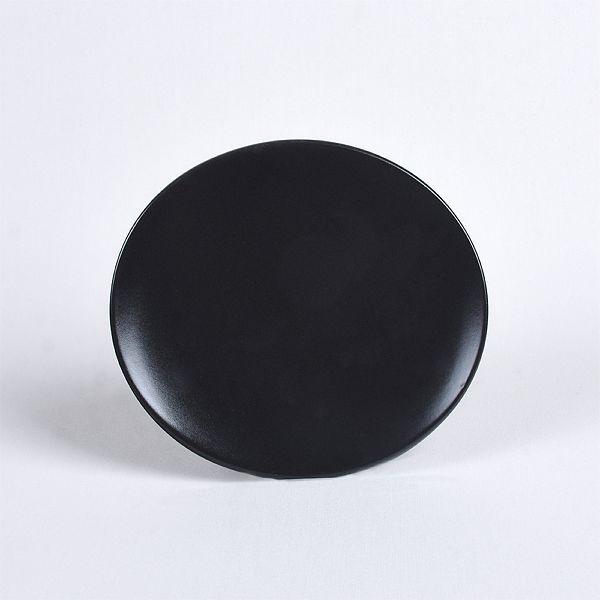 Oval Mat Siyah Yemek Takımı 24 Parça 6 Kişilik