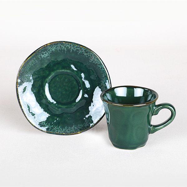 Zümrüt Kahve Fincan Takýmý 12 Parça 6 Kiþilik - 19024