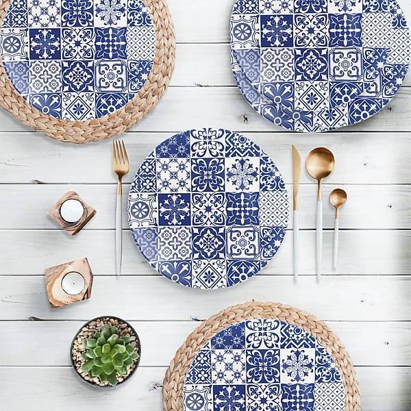 Blue Pattern Ege Servis Tabaðý 25 Cm 6 Adet - 17926