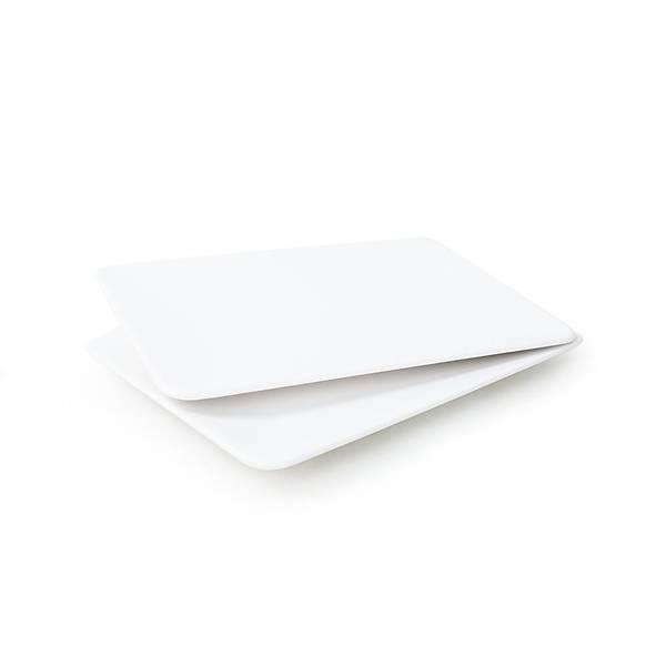 Mat Beyaz Siera Kayýk Tabak 31 Cm 2 Adet