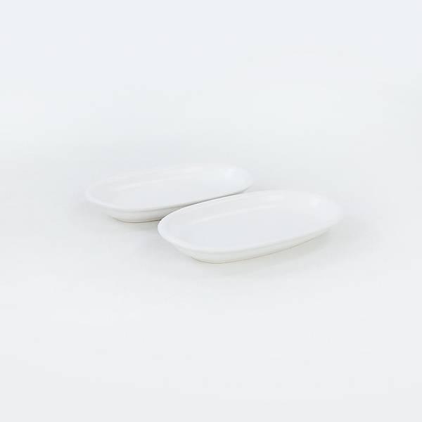 Mat Beyaz Hitit Kayýk Tabak 2 Adet 19 Cm