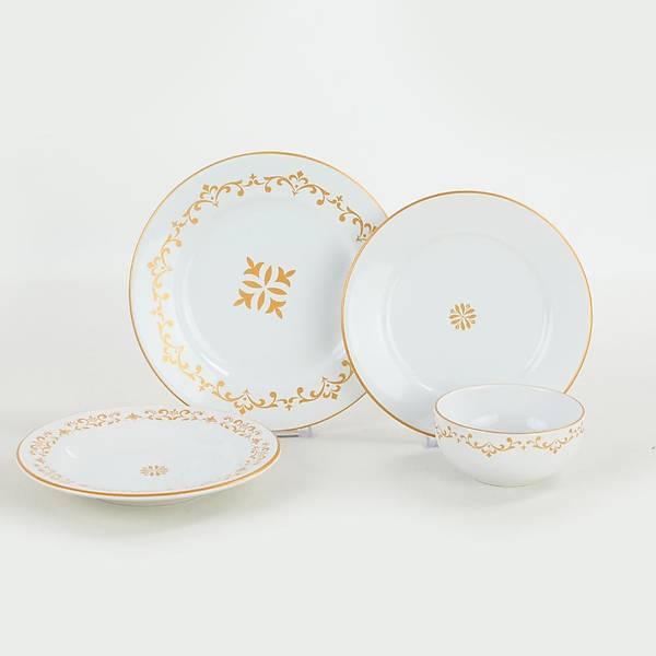 Riva Beyaz Gold Yemek Takýmý 24 Parça 6 Kiþilik